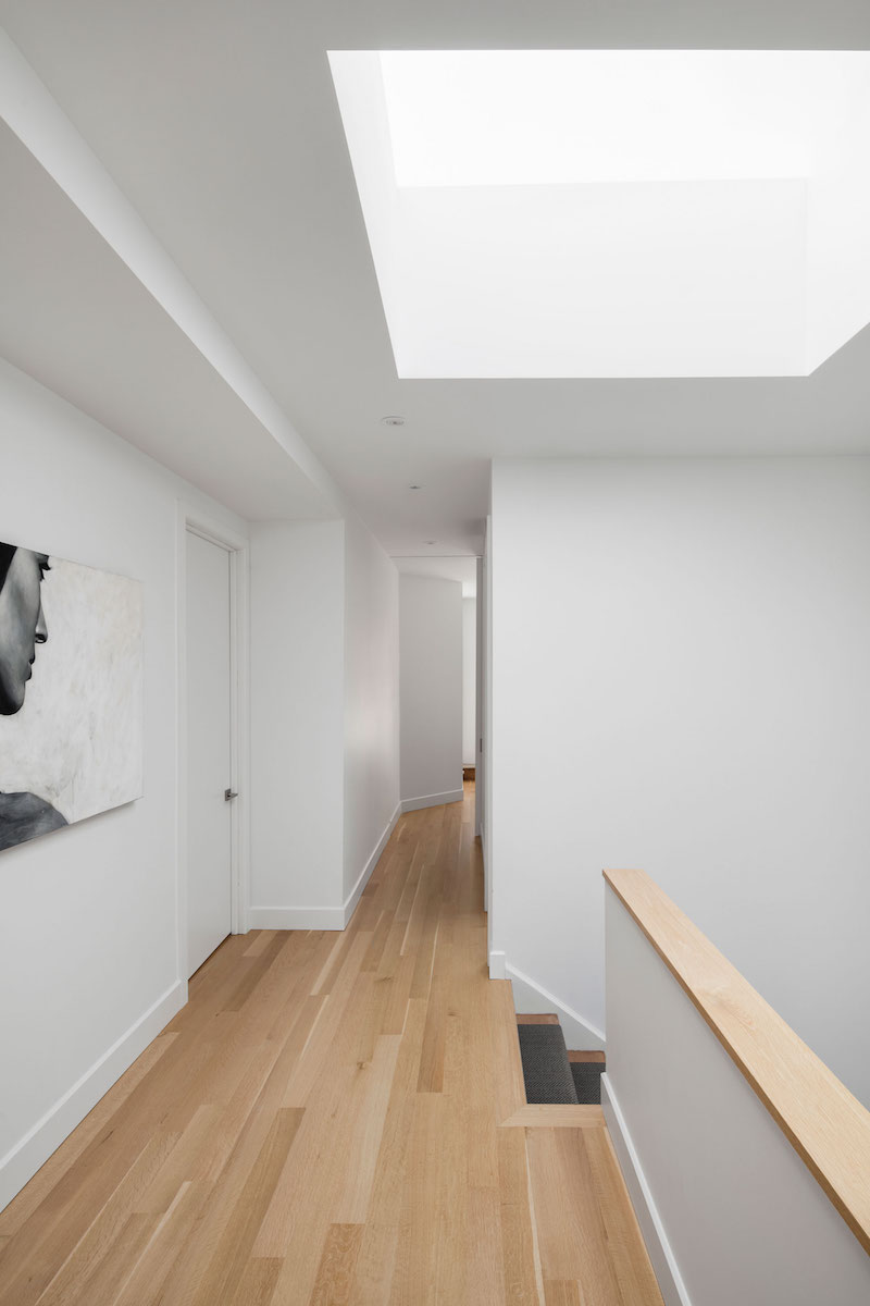 La Casa renovation in Montreal upstairs skylight