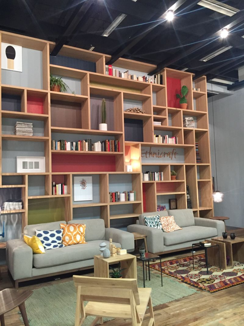 Large wall cube shelves