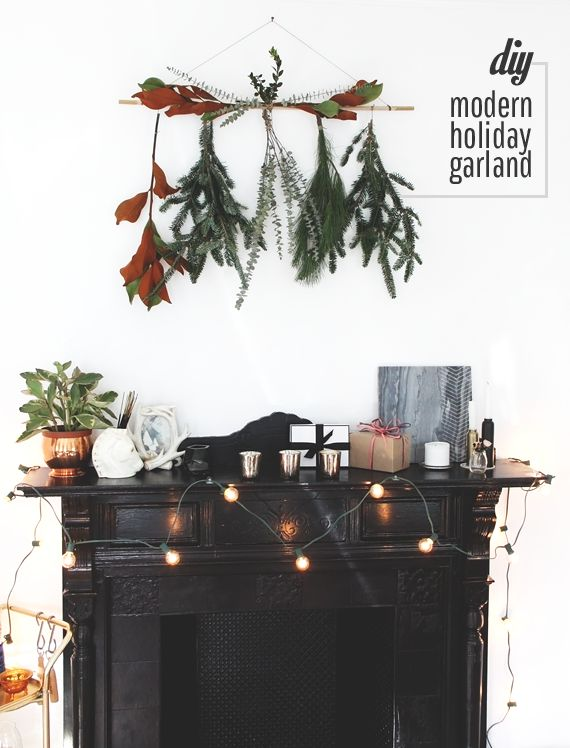 Modern Holiday Garland