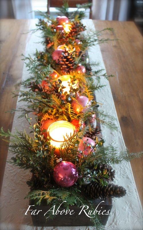 Narrow Box for Christmas Table