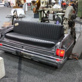 Old Car Back into a bench