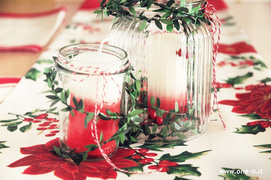 Ombre candles for Table Centerpiece