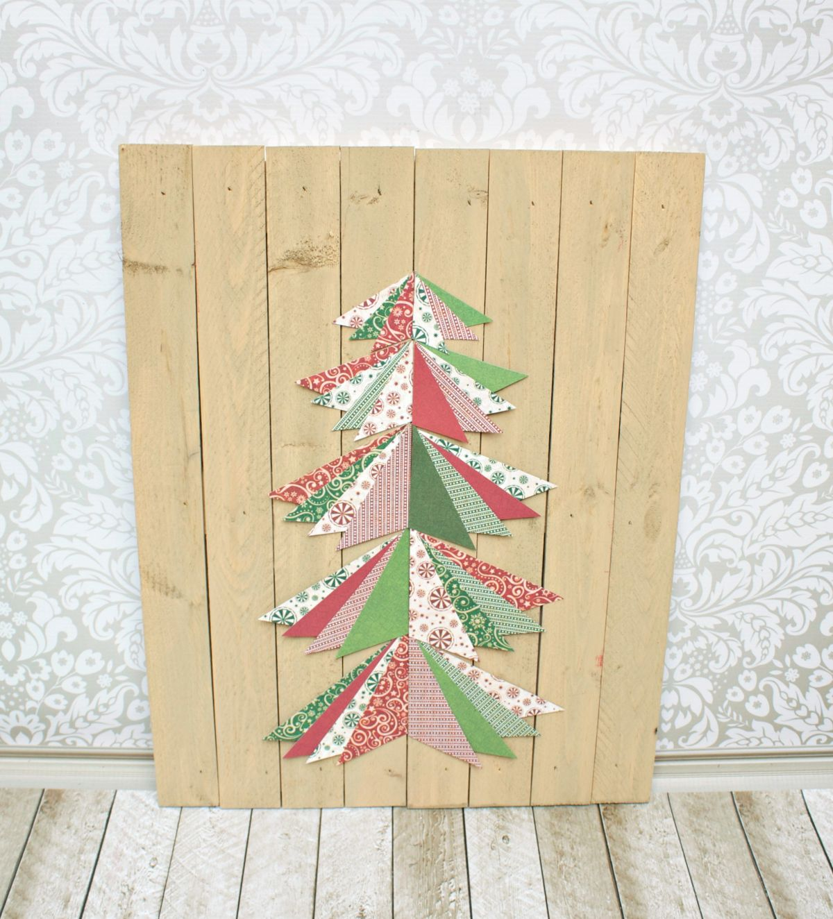 Paper Christmas Tree Wall Art Materials