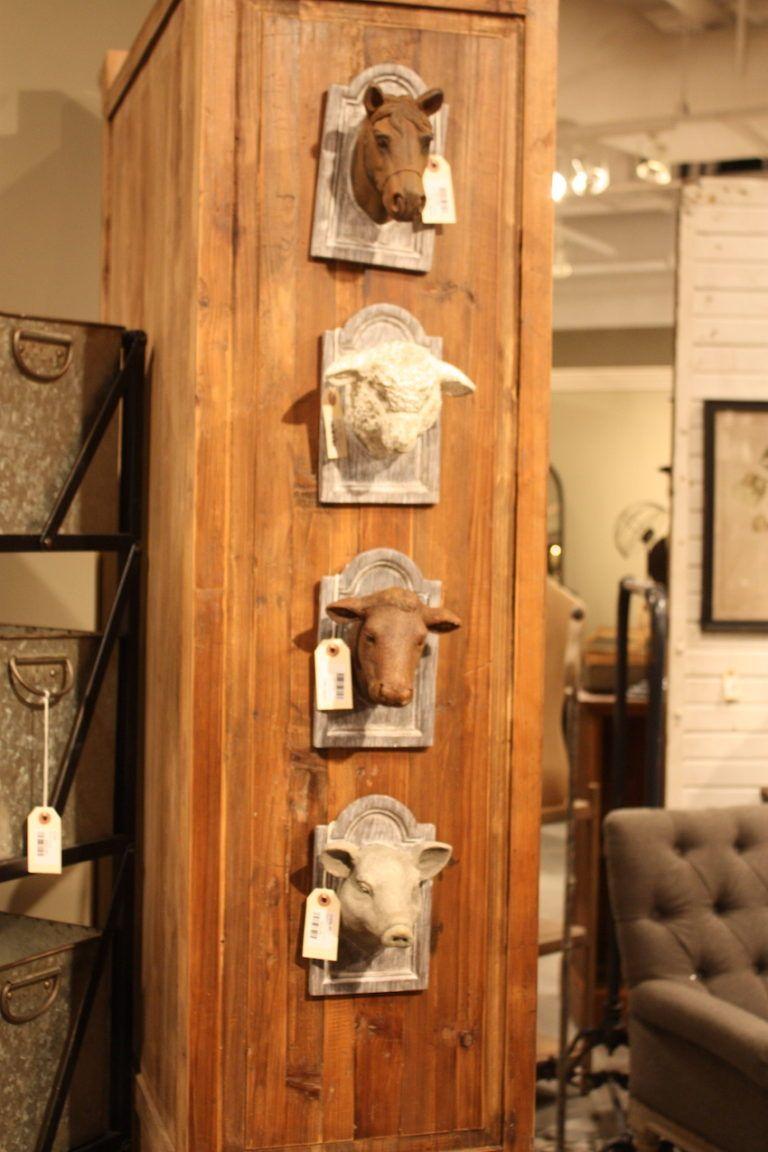 Park Hill's three-dimensional farm animal plaques are so cheeky!