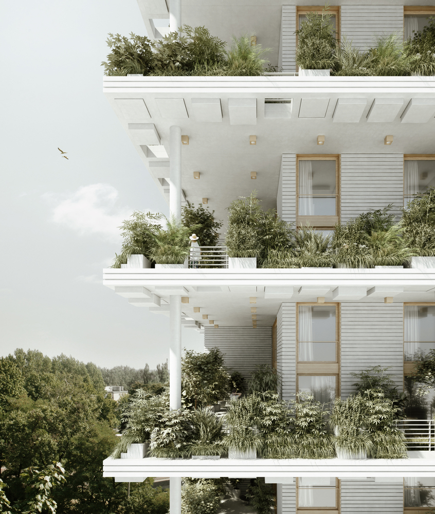 Penda Designs Sky Villas with Vertical Gardens