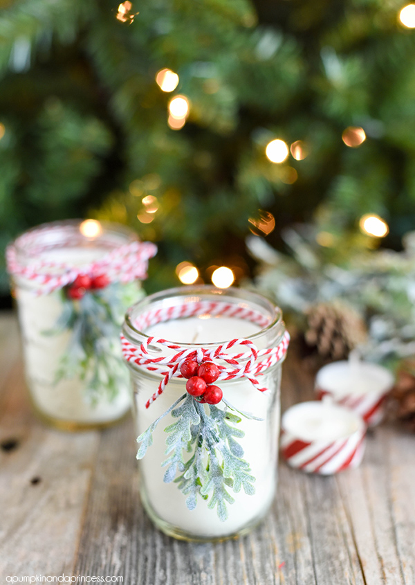 Peppermint Mason Jar candle