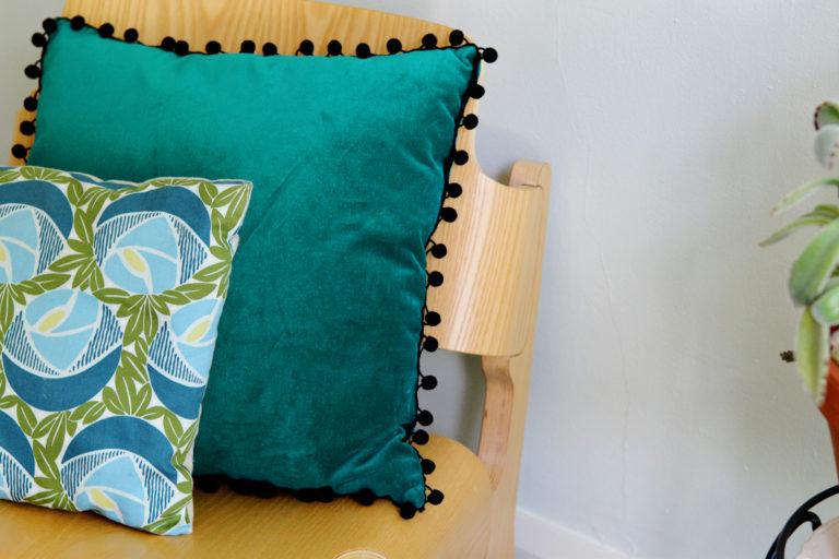 Pillow Makeover with Pom Pom
