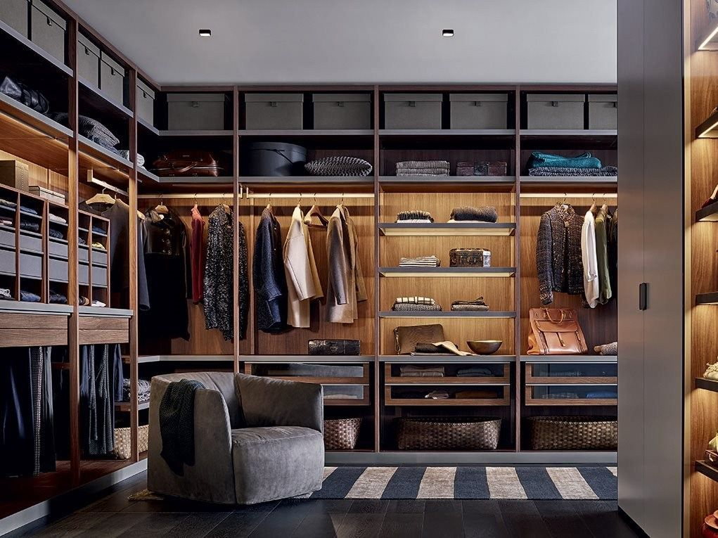 Poliform Senzafine Closet Design Interior