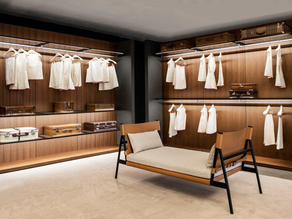 Porro storage wardrobe Boiserie with bench