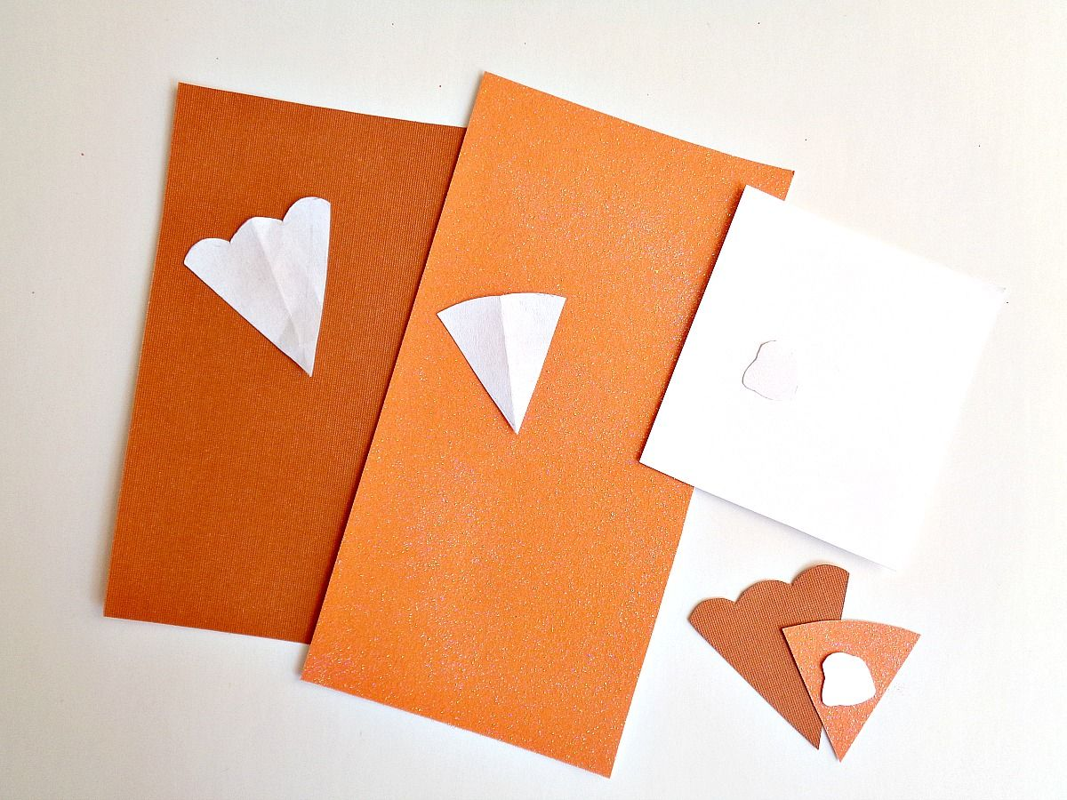 Pumpkin Pie Slice Place Cards Cut
