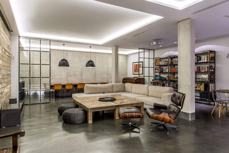 Residencial III house lounge space