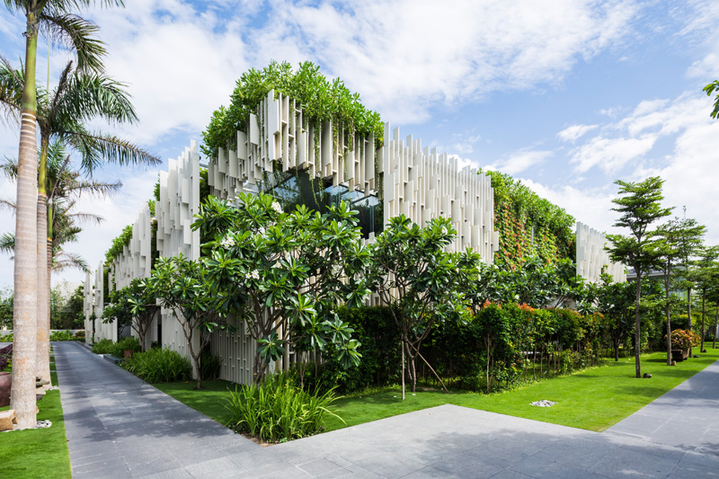 Resort Spa Covered In Hanging Gardens