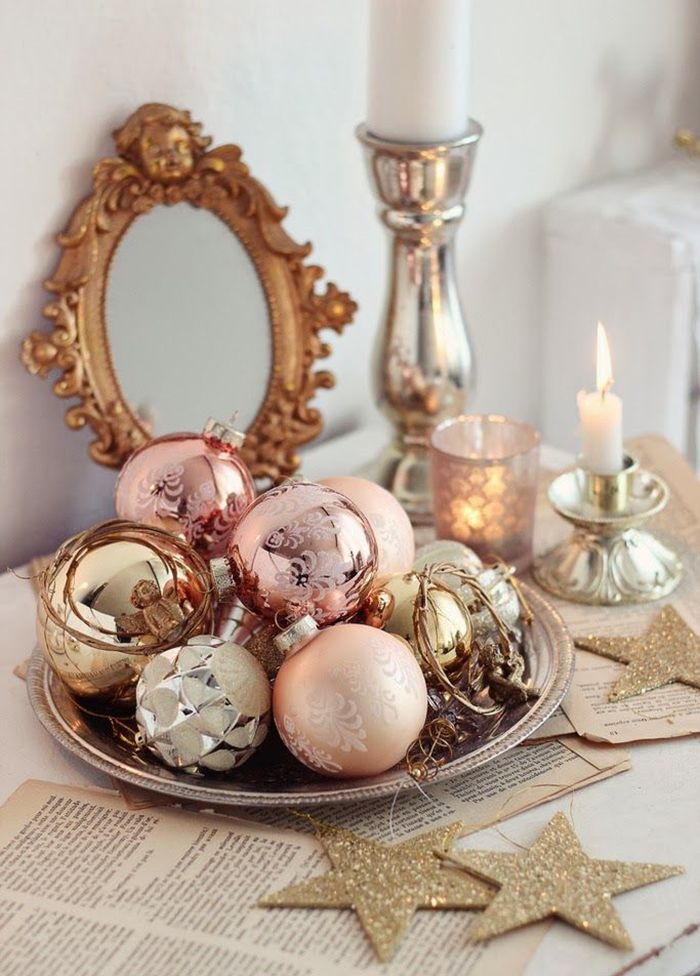 Rose quartz Christmas ornaments