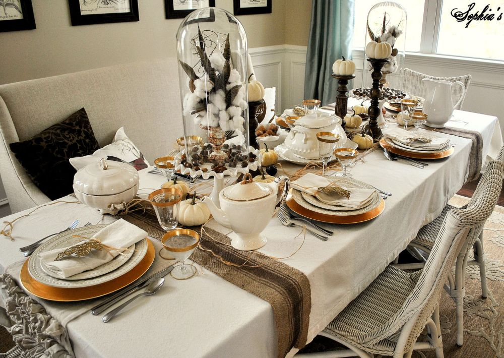 102 Easy Thanksgiving Crafts Show Your Gratitude In Style: decorating thanksgiving table