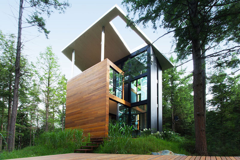 ... Sculptural Tower House Covered Deck Images