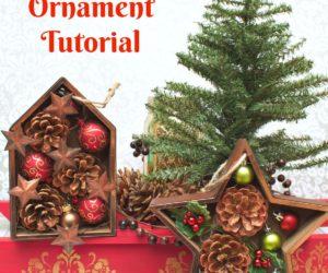 Shadowbox Christmas Ornament Tutorial