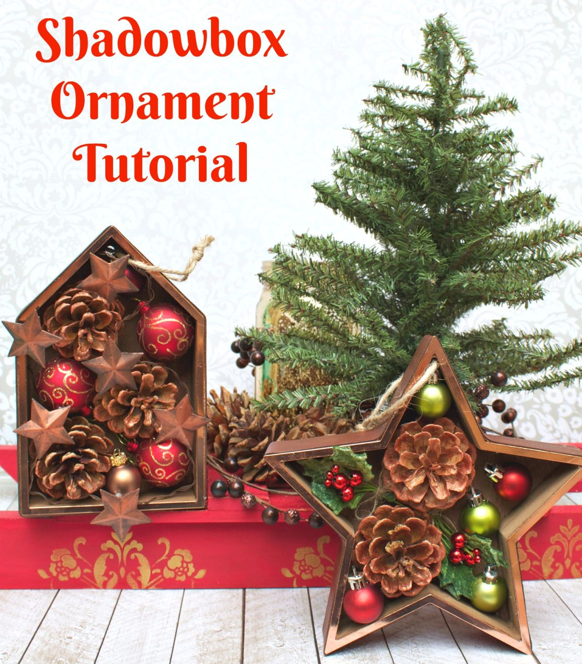 Shadowbox Christmas Ornament Tutorial