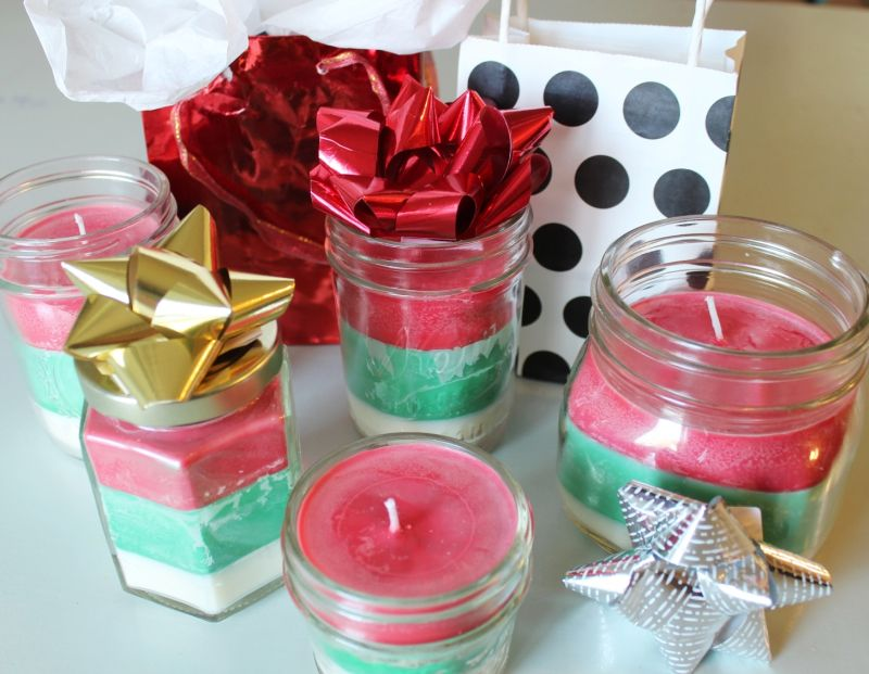 Striped Multi-Scented Christmas Candles