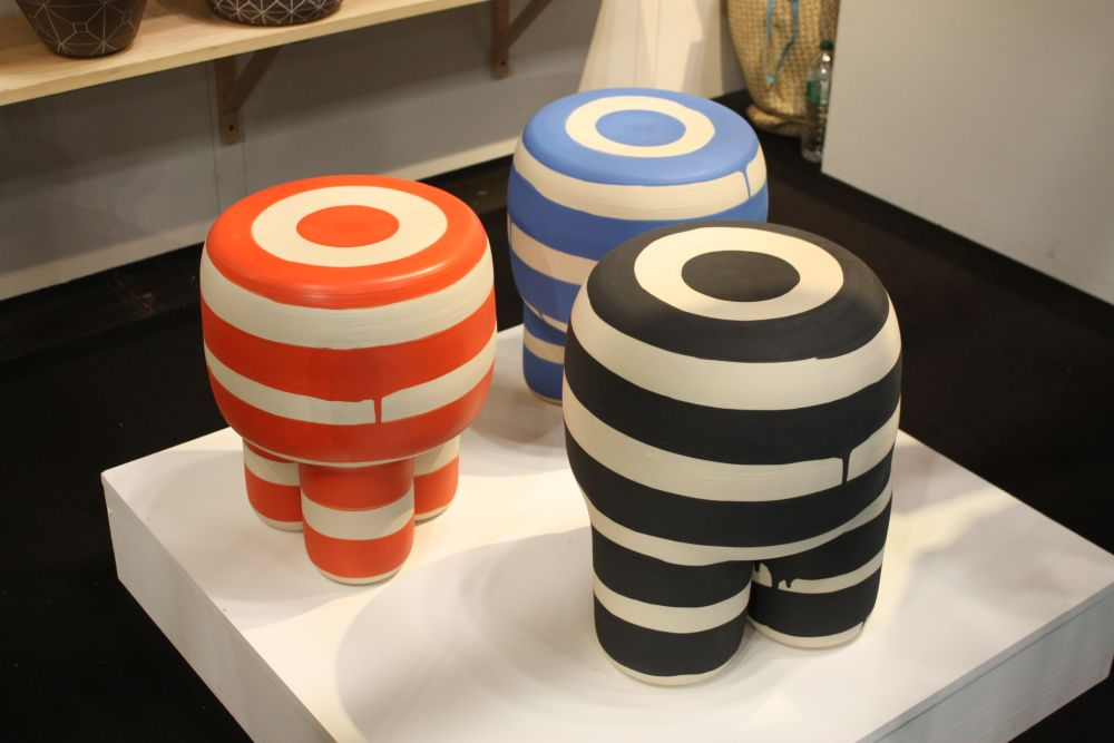 Stripes and rich color stools