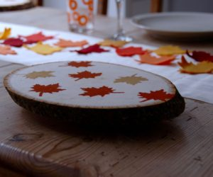 Thanksgiving Wood Slab Serving Tray