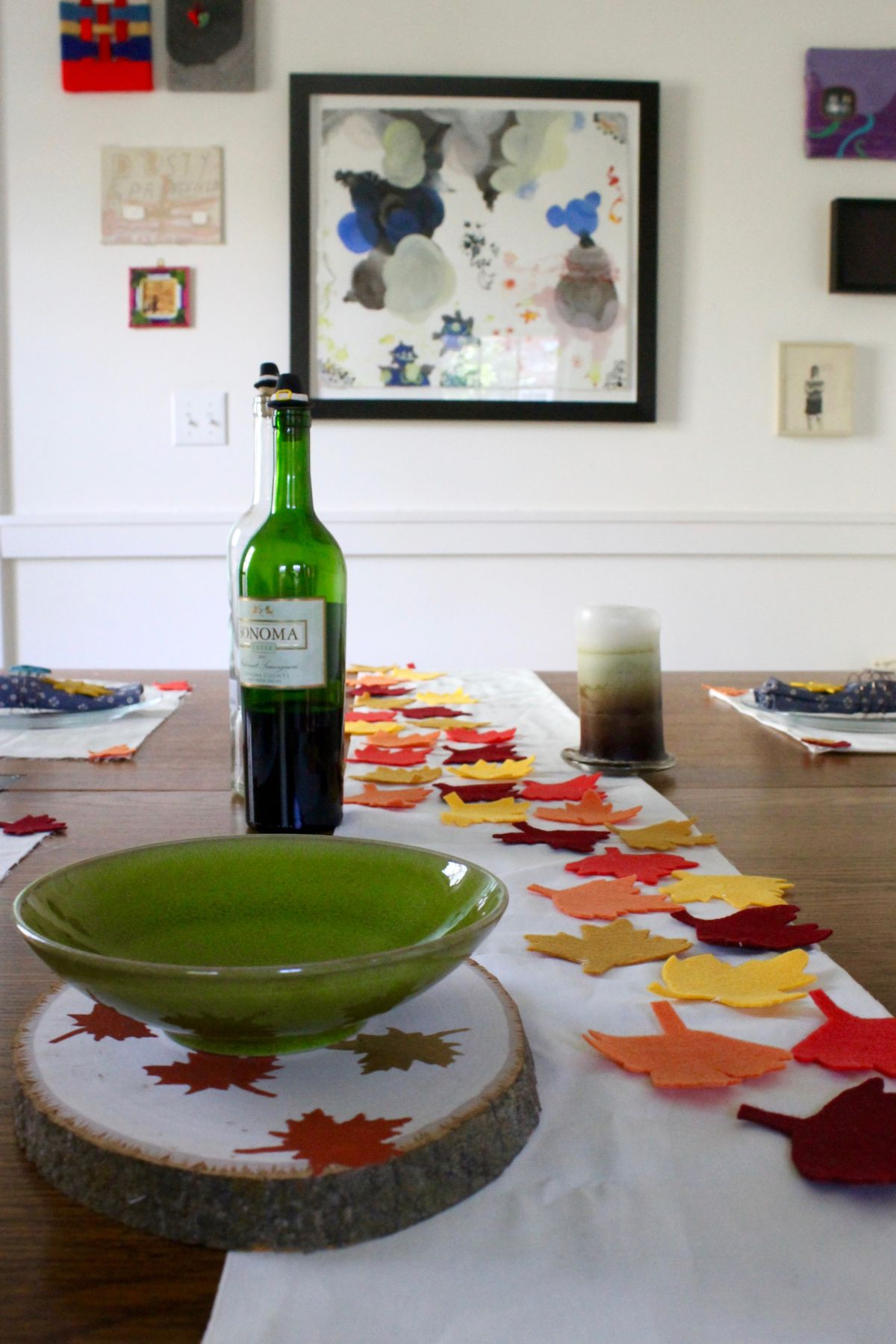Thanksgiving table runner and placemats