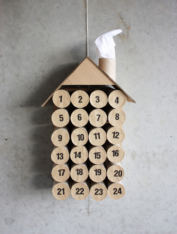 Toilet paper tubes advent calendar