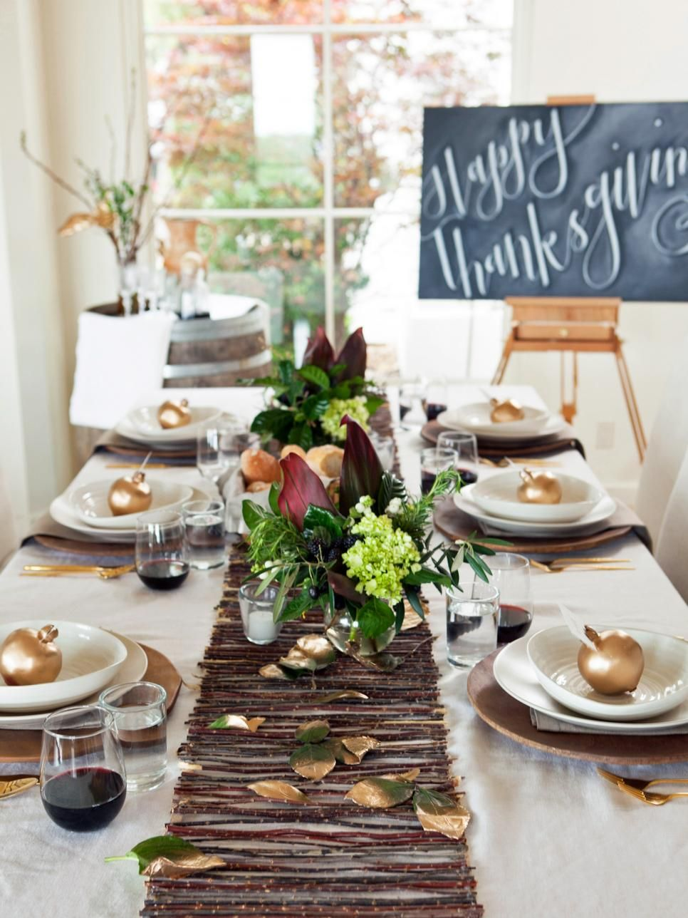 Twig Table Decor For Thanksgiving