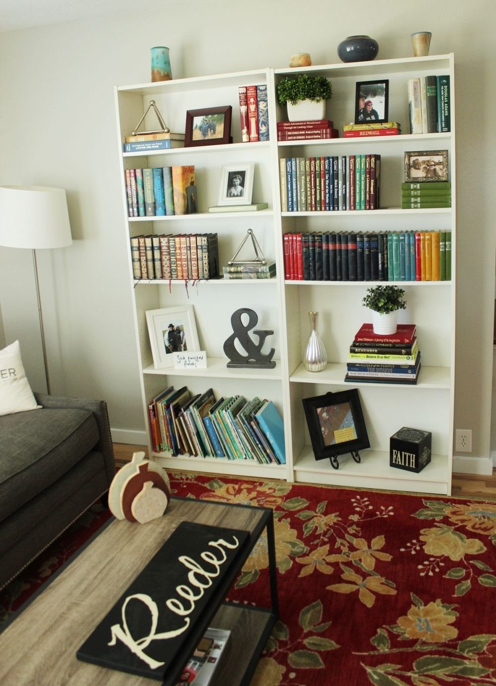 Two contemporary bookshelves