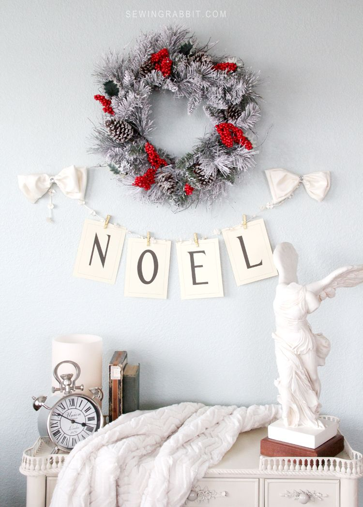 Vintage Noel Banner