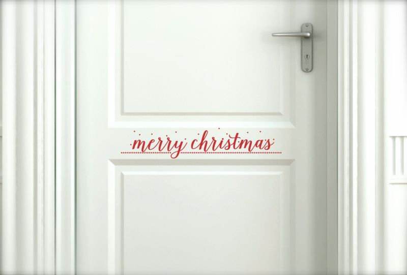 Wall sticker for Christmas door decoration