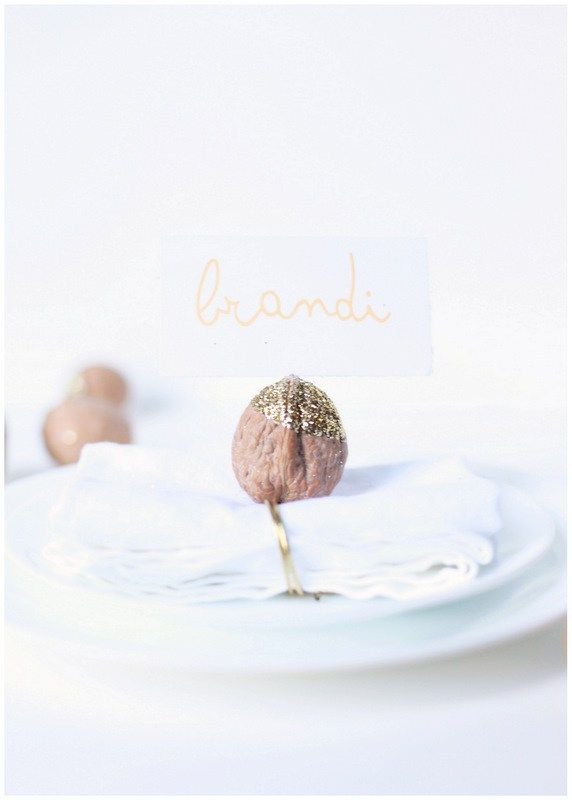 Walnut place card