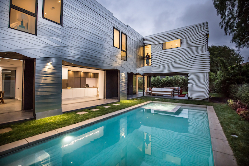 Wave House backyard pool