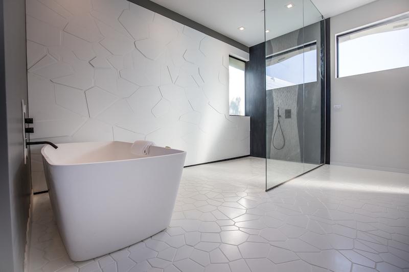 Wave House master bathroom tub