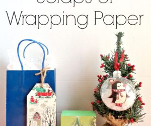 Delightful ... 3 Ways To Use Scraps Of Wrapping Paper