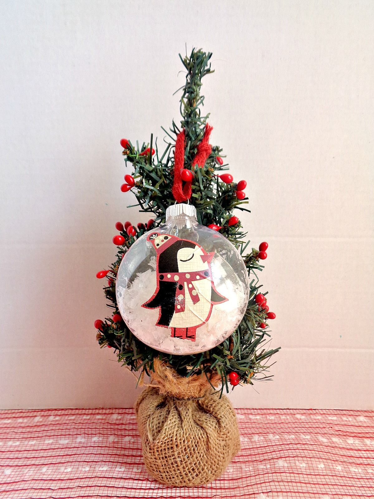 Ways To Use Scraps Of Wrapping Paper - Tree Ornament