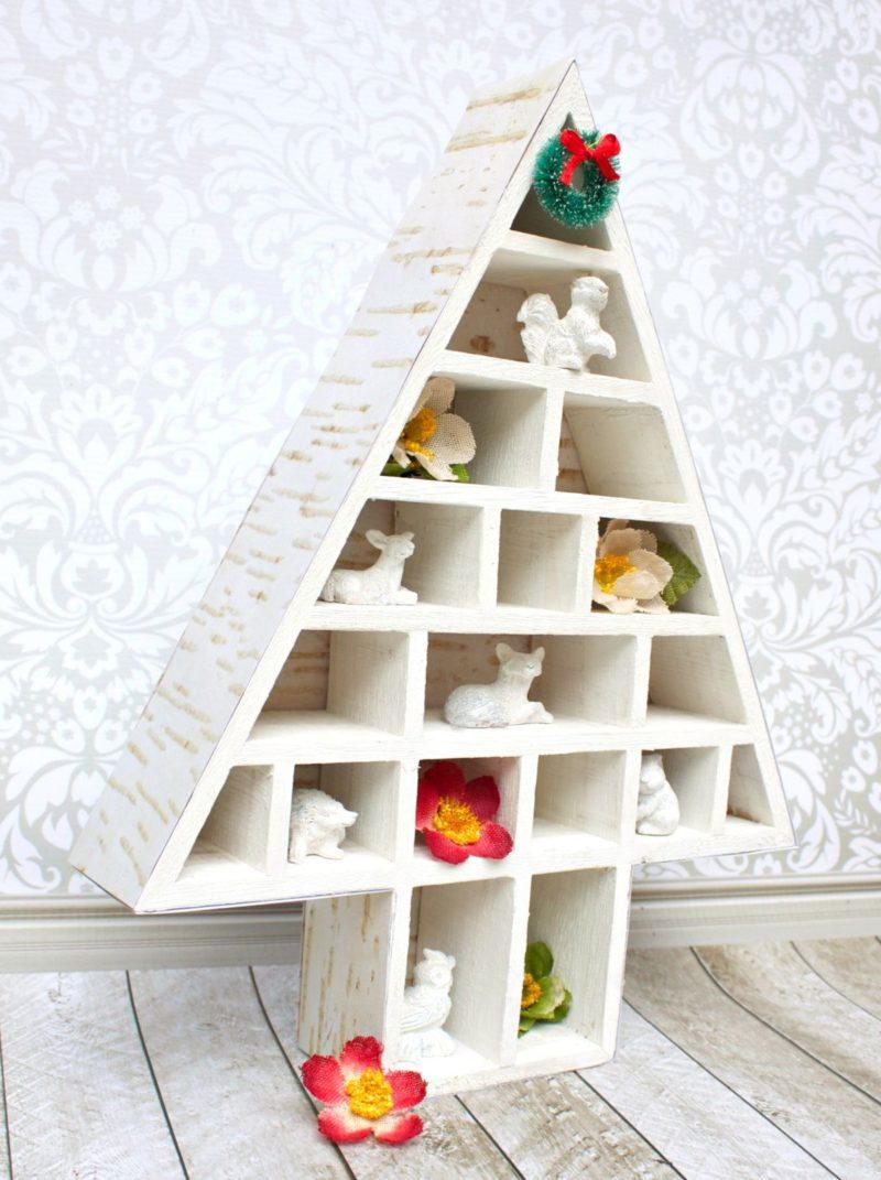 Woodlands Themed Decorative Christmas Shadowbox