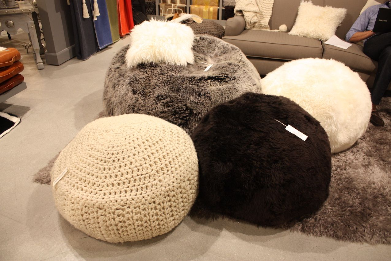 peninsula fur poufs for kids room