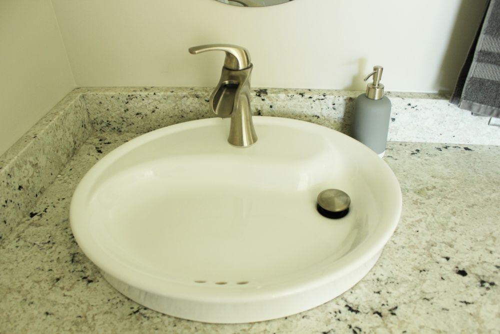 porcelain flat bowl-style sinks