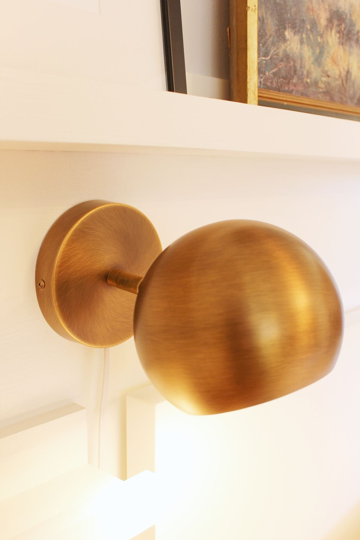 single brass ball sconce