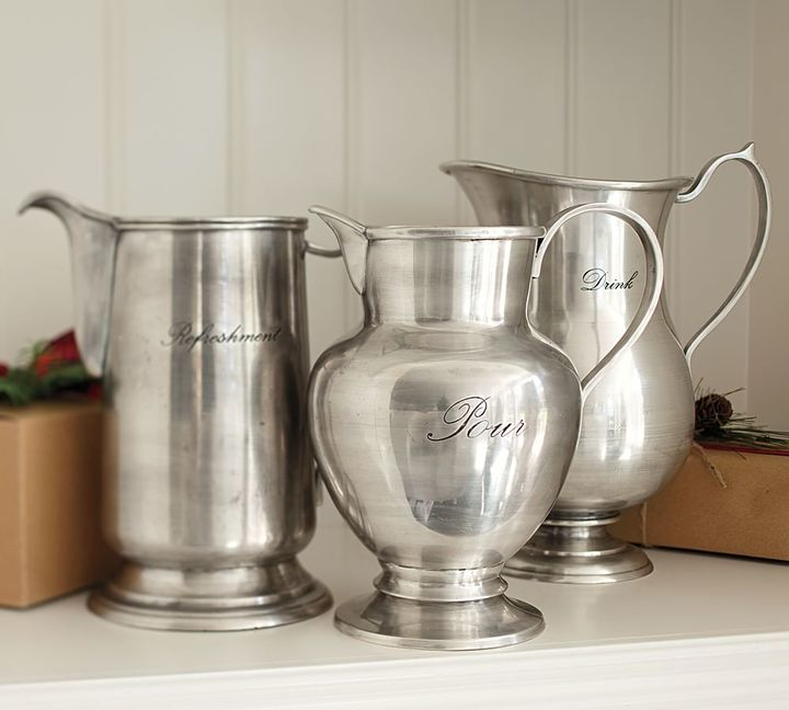 Antique silver pitcher