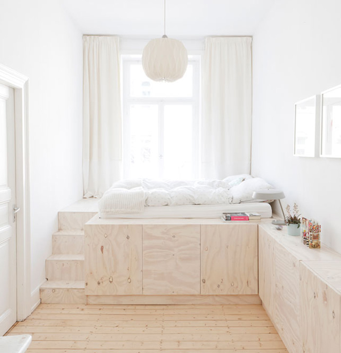 Bed storage for small spaces