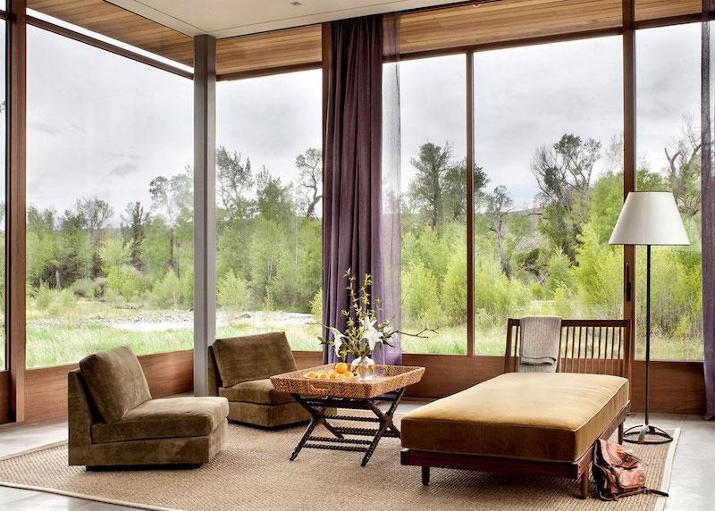 Big Timber Riverside Ranch corner seating
