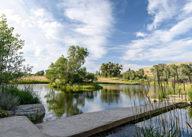 Big Timber Riverside Ranch lakeside view