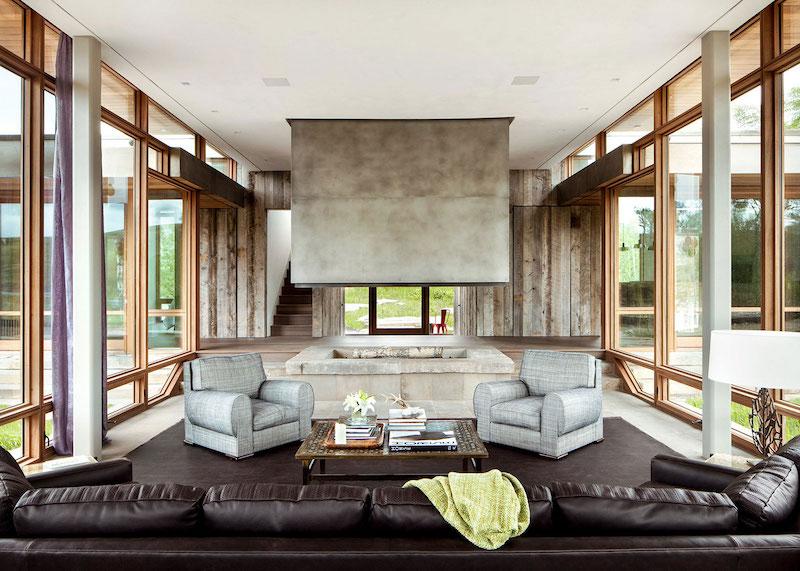 Big Timber Riverside Ranch living area