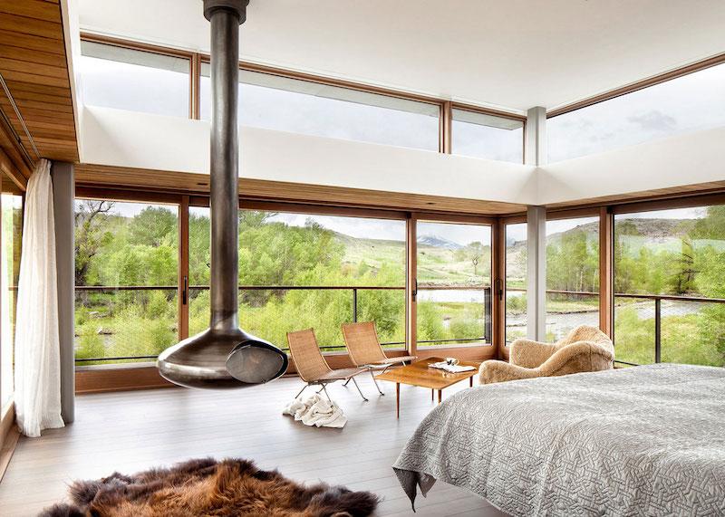 Big Timber Riverside Ranch master bedroom
