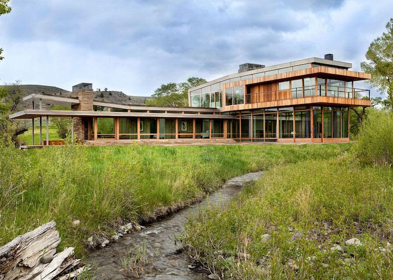 Big Timber Riverside Ranch perpendicular volumes