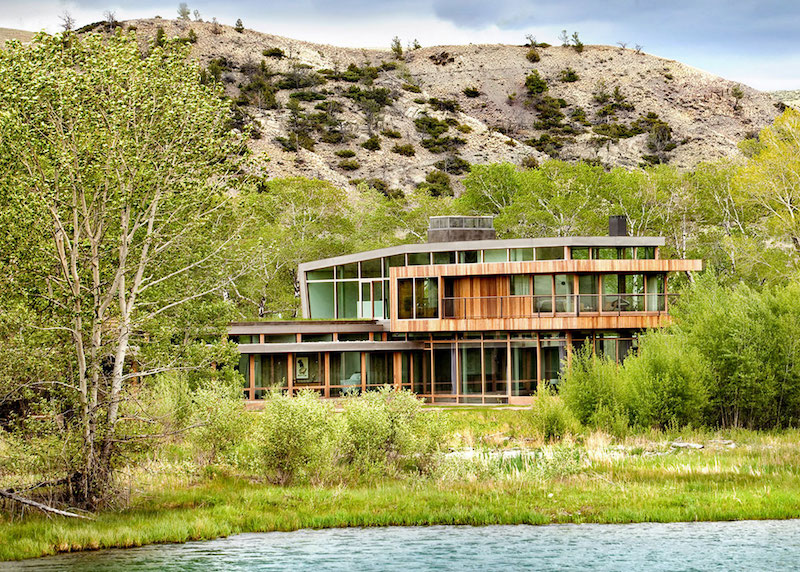 Big Timber Riverside Ranch under the slope