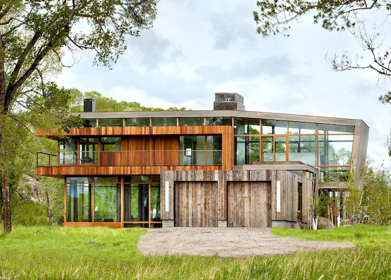Big Timber Riverside Ranch wooden facade