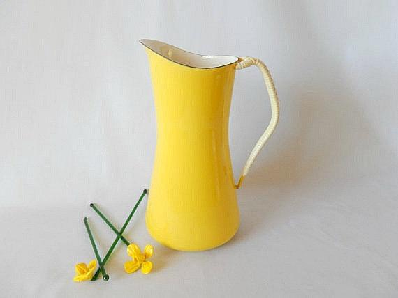 Bright yellow pitcher
