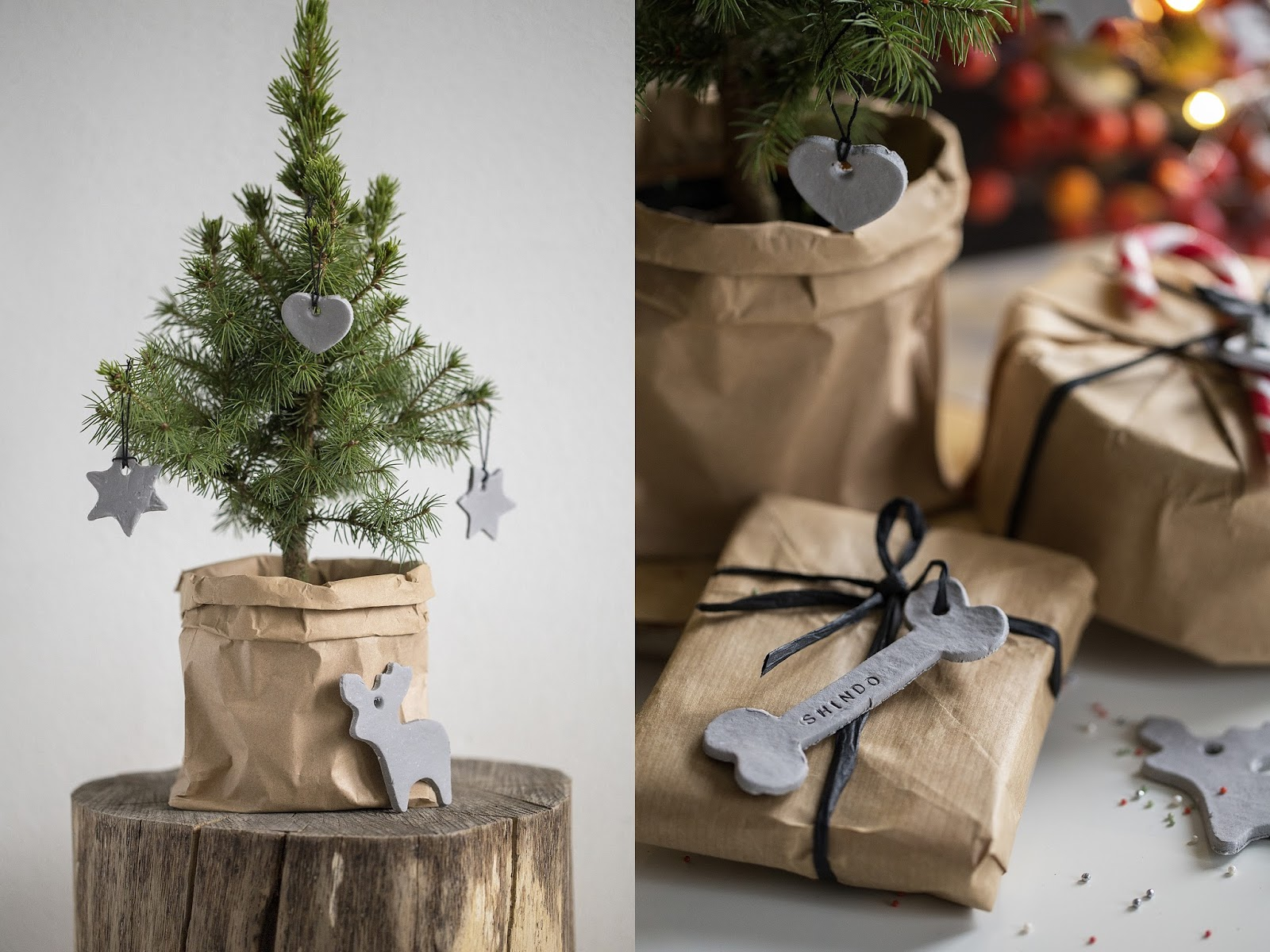 Brown Paper Christmas Tree